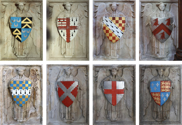 Ashwellthorpe All Saints tomb shields
