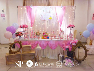 Pink & Princess Theme Full Moon Party Decoration