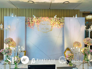 3D Photo Booth + Photo Corner + Candy Bar + Reception Decoration + VIP Table + Walkway + Sound Syste