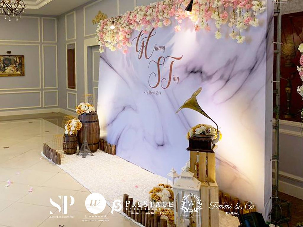 Wedding Marble Theme Photobooth