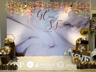 Marble Theme Photobooth Decoration