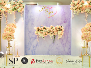 Photobooth + Walkway + VIP Table +Stage Decoration + Sound System +-Live Band +Emcee +Photographer +