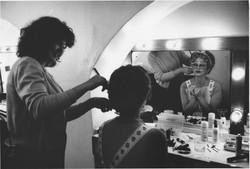 Joanna Lumley - backstage
