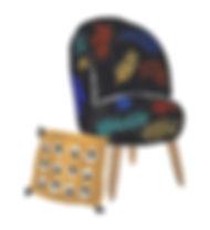 Illustration fauteuil Marlene Ixart