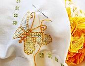 bordado de la mariposa