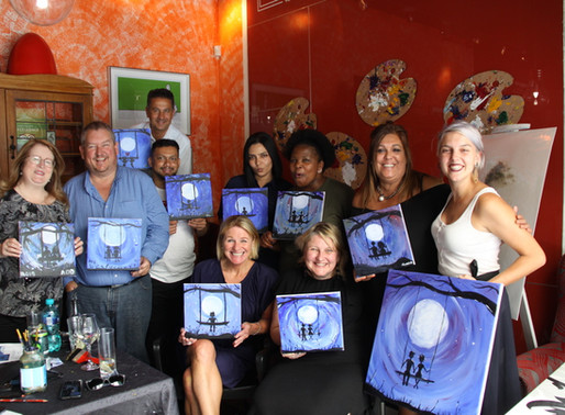Woolworths treat their team to a private Paint & Sip Experience
