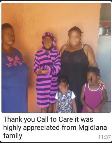 Mgidlana family from Gugulethu