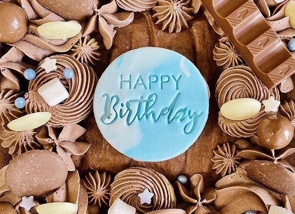 Brownie Bake: Birthday Message (Blue)