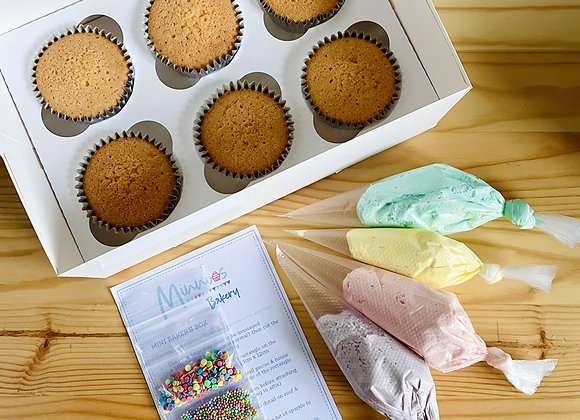 Mini Baker's Cupcake Box: Rainbow