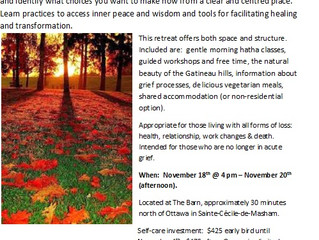 November Grief Care Retreat Info