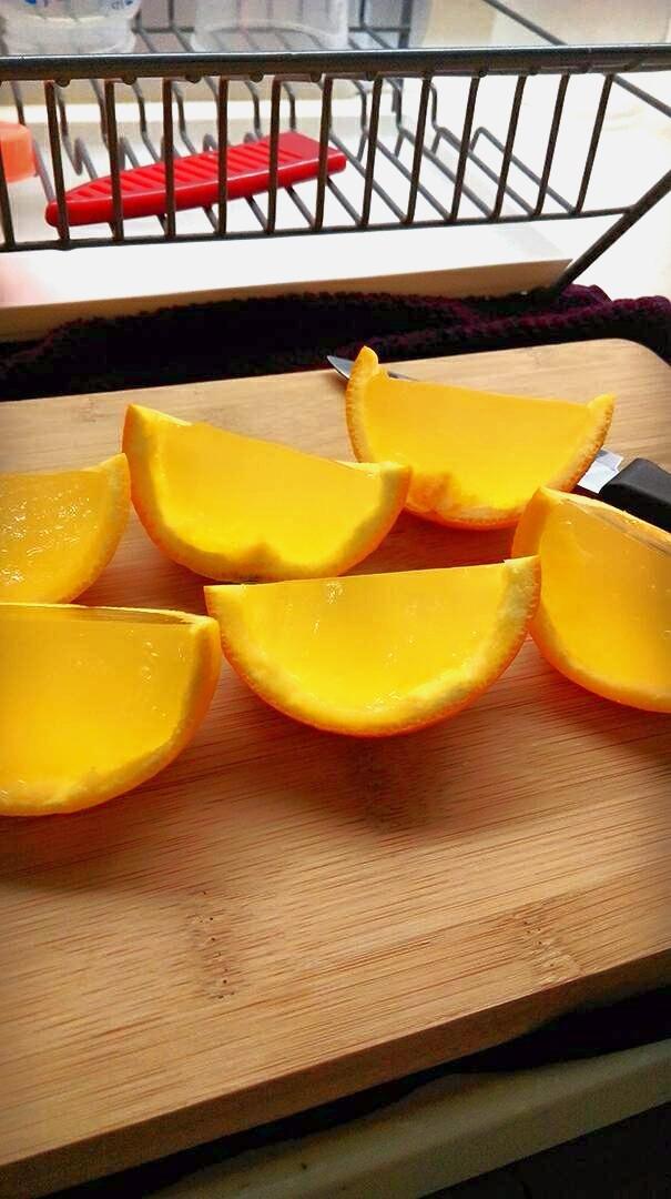柳橙果皮凍