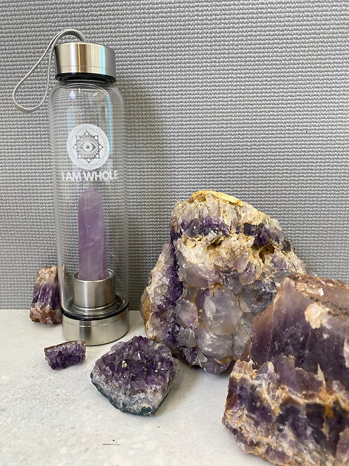 Brazillian Amethyst Stainless Steel