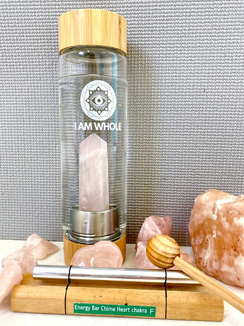 Rose Quartz Bamboo Water Bottle