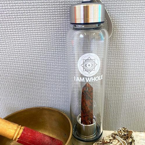 Mahogany Obsidian Steel Water Bottle