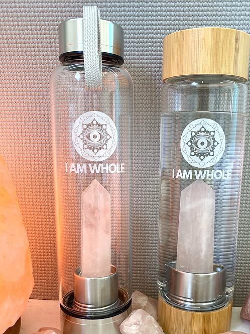 Rose Quartz Stainless Steel Water Bottle