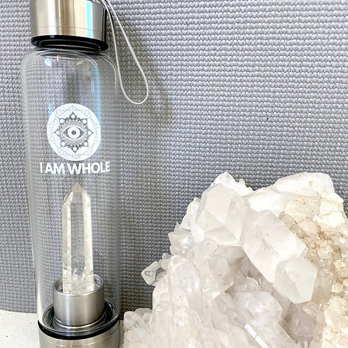 Clear Quartz Stainless Steel Water Bottle