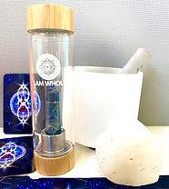 I AM WHOLE lapis lazuli Bamboo water bot