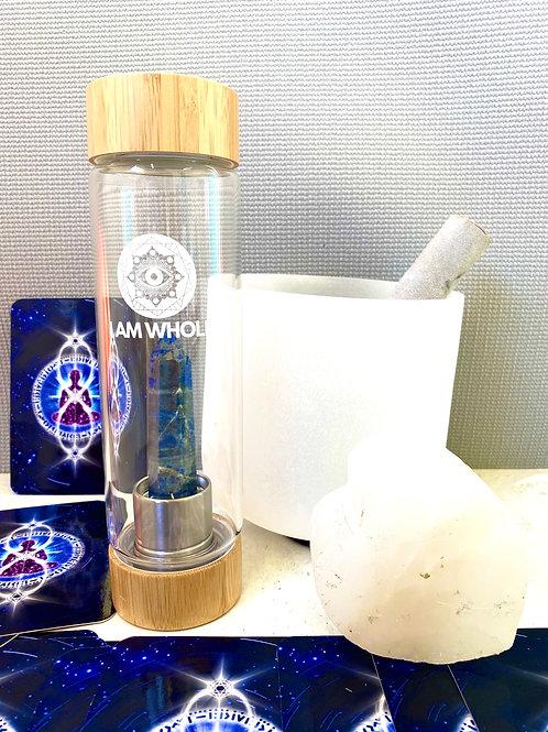 Lapis Lazuli Bamboo Water Bottle
