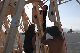 art installation build week at burning man