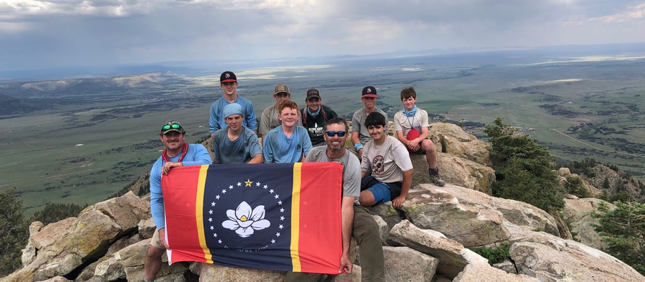 The Alliance President & CEO, Clayton Stanley, leads Boy Scout Troop on 60 mile hike.