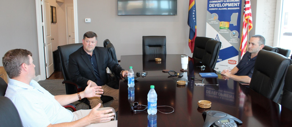 John Rounsaville, Executive Director of the Mississippi Development Authority, visits Corinth.