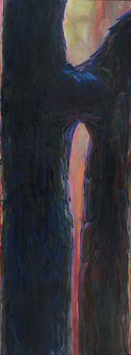 "Chafing | oil on canvas, 36"" x 96"", 2016"