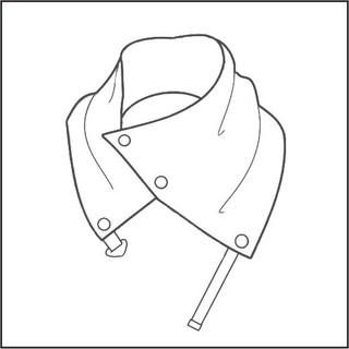 Fastened collar