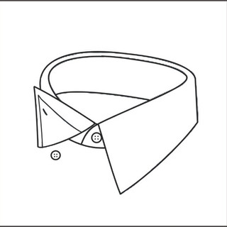 Hidden button-down collar