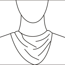 Draped neckline