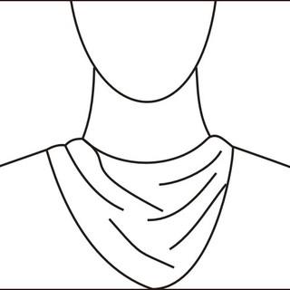 Draped neckline