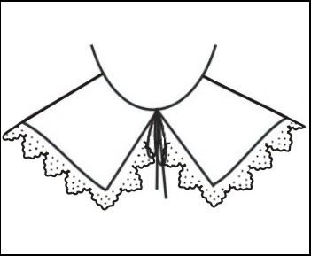Falling band collar