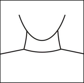 Crew neckline
