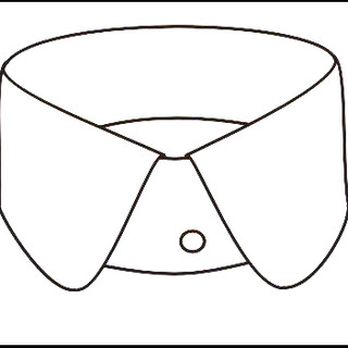 Double-round collar