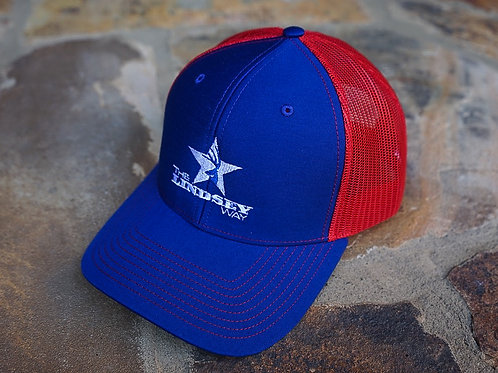 """The Patriot"" Red/White/Blue Trucker Snapback"