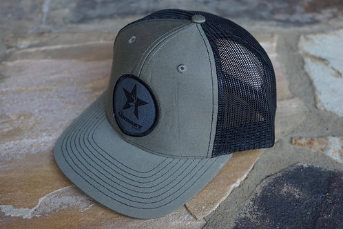 Olive/Black Patch Hat