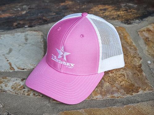 Hot Pink/White Ladies Snapback
