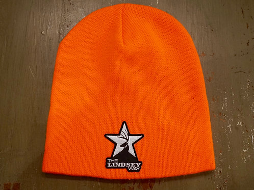 Hunter Orange Knit Beanie with Patch Logo