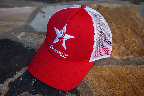 Red/White Structured Snapback