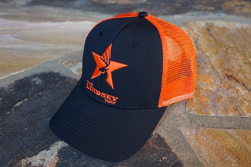 Orange/Black Structured Snapback