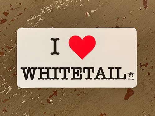 I ❤️ Whitetail decal