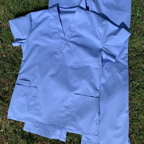 SCRUB  TOP in COTTON SPANDEX (TOP ONLY)