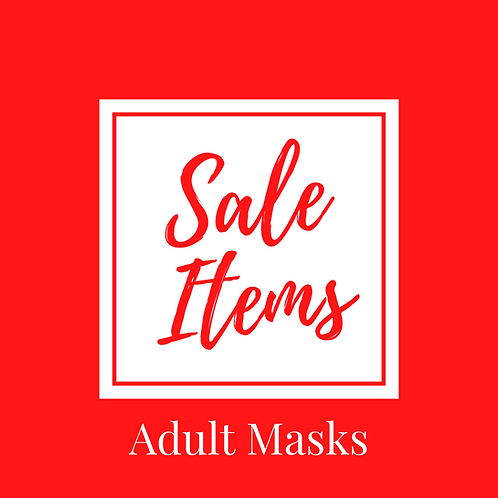 CLEARANCE +DISCONTINUED LINES - ADULT MASK SIZES ONLY