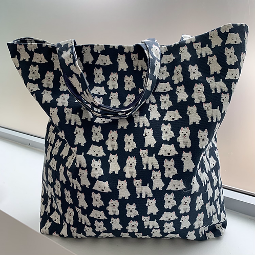 WEST HIGHLAND WHITE TERRIER TOTES