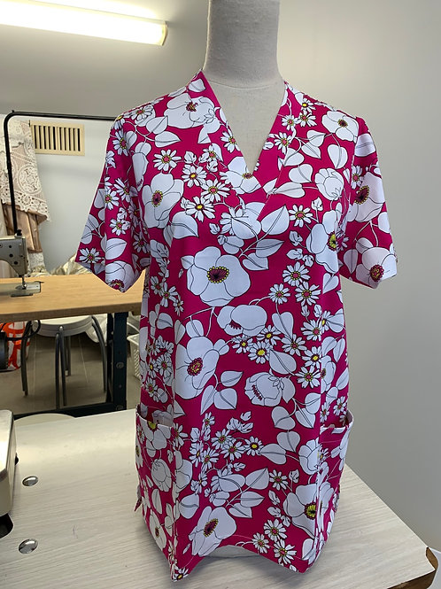 PRINTED SCRUB TOP IN SPANDEX COTTON [limited editions]
