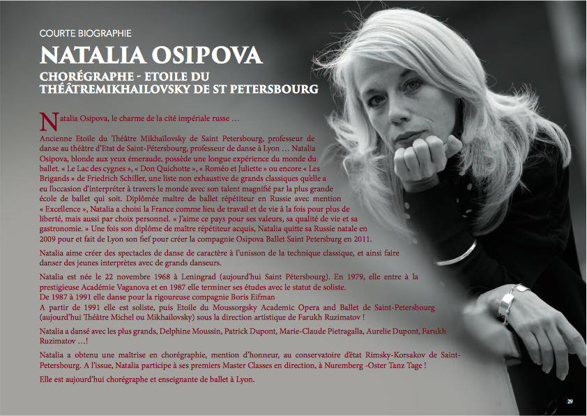 Biographie Natalia Osipova Courte