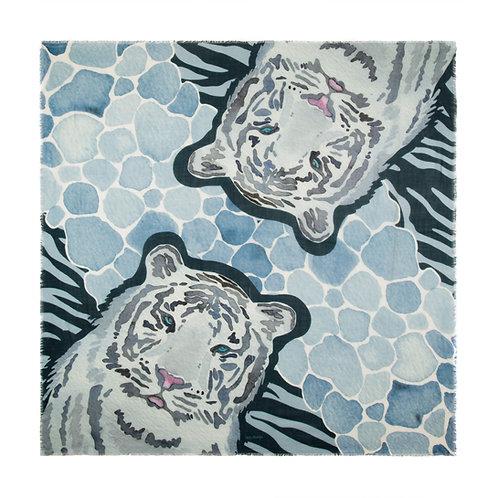 Siberian Tiger | 140x140cm , cashmere