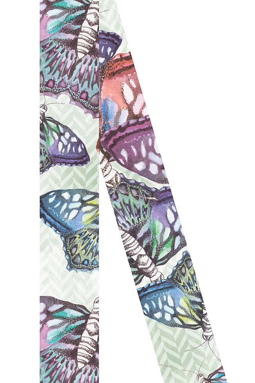 Butterflies Skinny | 6x100cm , silk