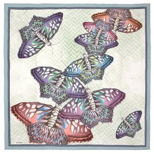 Butterflies | 100x100cm , silk