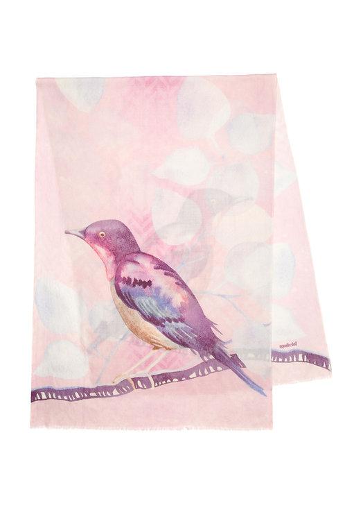 Purple Finch | 70x200cm , cashmere wool