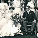 Andrews e Helen, em seu casamento no ano de 1908